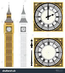 big ben wall clock in vector art nextime