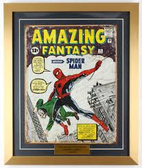 the amazing fantasy featuring spider man 18x21 5 custom framed comic book print display