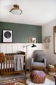 modern and vine boy s nursery reveal with a dark green accent wall wall color woodland lichen by sherwin williams