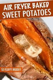 air fryer baked sweet potatoes just 3