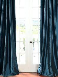 taffeta curtains habitat teal faux solid curtain silk
