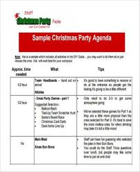 Party Agenda Sample 17 Party Agenda Samples And Templates Pdf