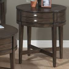 amazing round side table with drawer 10 oval end by hammary tables storage wolf and gardiner furniture