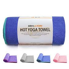 5billion microfiber yoga towel for yoga mat 72 x 24 blue