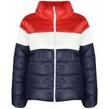 Design Jackets For Boys Details About Kids Girls Boys Jackets Designer Contrast Panel Quilted Padded Warm Coats 5 13yr