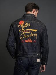 mister freedom rodeo cowboy jacket okinawa denim embroidered