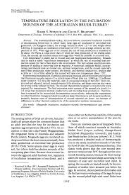 Pdf Temperature Regulation In The Incubation Mounds Of The