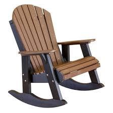 polywood adirondack rocking chairs. Unique Polywood Amish Made Rocking Chair  Amish Polywood Adirondack Rocker  Tudor Brown  On Black To Rocking Chairs
