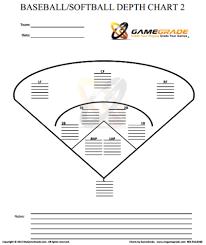 Printable Baseball Depth Chart Template Www