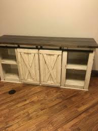 white rustic tv stand. farmhouse tv console media rustic stand by cmwoodwerks white tv