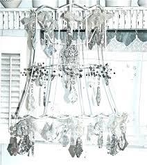 diy lampshade chandelier chandelier lamp shades chandelier lamp shade lampshade dressed up with crystals and chandelier diy lampshade chandelier