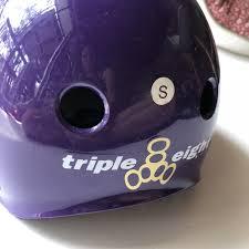 Bauer 2100 Helmet Size Chart Triple 8 Purple Gloss Helmet Size Small Ex Display