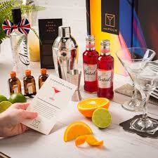 cosmopolitan l gift box and two martini gles