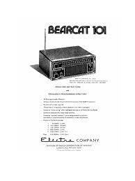 bearcat 101 manual