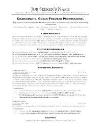 Sample Car Sales Resume Sales Representative Resume Salesman Resume