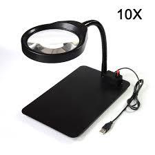 36 led light magnifier desk lamp helping desktop magnifying tool desktop magnifier with usb 10x