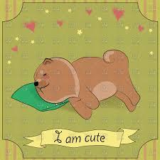 cute pillow clipart. cute sleeping dog chow-chow with green pillow vector clipart clipart