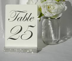 table number holders. silver wedding table number holder with a rhinestone wrap - gallery360 designs holders