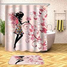 fairy elegant black girl shower curtain no mat included rooms of fun black girl shower curtain