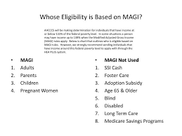 Ppt Whose Eligibility Is Based On Magi Powerpoint