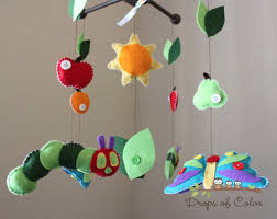 baby crib mobile  baby mobile  nursery caterpillar butterfly