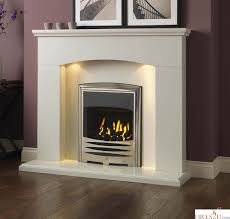 gallery cartmel 48 marble fireplace suite including downlights surround backpanel and hearth