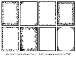 5x7 border template haddad design decorative borders set one 22