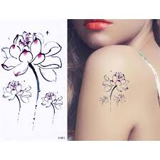 1 лист лотос розового цвета стиль временная водостойкая татуировка наклейка рука