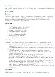 Physical Therapy Resume Template Amartyasen Co