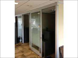used floor to ceiling private office cubicles w sliding glass doors