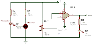 ir sensor working and its interfacing microcontroller ir circuit diagram