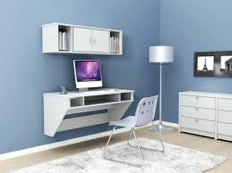 modern white computer desk for home ideas with wall mounted made of wood ikea micke table workstation