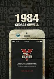 1984 george orwell ilration print giclee on cotton canvas paper canvas dystopia poster pop art