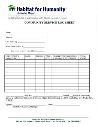 Hours Sheet Template 19 Printable Community Service Hours Log Sheet Template