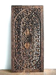 wooden wall art panels carved wood decor new open carvings set ar