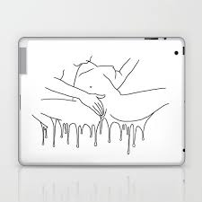 Colorful Climax Line Erotic Art Illustration Nude Sex Sexual Love Lovers Relationship Couple Laptop Ipad Skin By Nymphainna