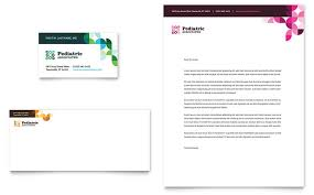 business card template designs pediatric doctor business card letterhead template design