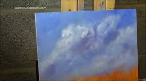 acrylic painting sky and clouds 45 minute challenge to myself 8 x 10 on wooden panel x2 sd you