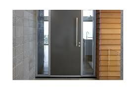 powdercoated aluminium doors come in myriad colours a stainless steel handle completes the look