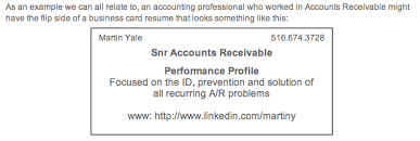 Performance Profile Resumes Resume Writers Digest Business Card Resumes