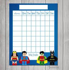 Superhero Reward Chart Margarethaydon Com