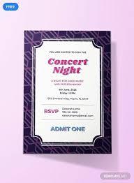 Concert Invite Template Free Concert Ticket Invitation Ticket Invitation Event