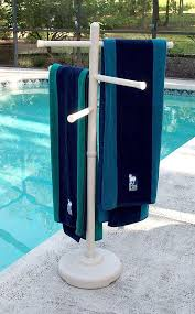 outdoor spa and pool towel rack