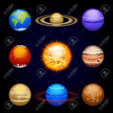 Ilustración De Un Conjunto De Ocho Planetas Del Sistema Solar Con El Sol Ilustraciones Vectoriales Clip Art Vectorizado Libre De Derechos Image 40887973