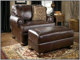 ashley furniture leather chair and a half