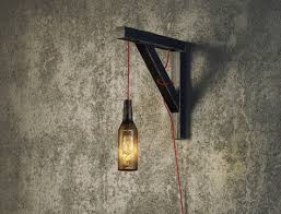 industrial wall lights. Bottle Shaped Industrial Wall Lamp For Men Spaces Lights O