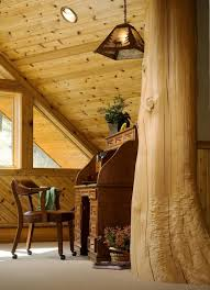 home office cabin. office cabin ceiling design home rustic with potted plants wood tongue and groove