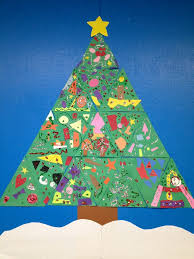 Personalised Teacher Class Christmas Tree Print By Applemint Classroom Christmas Tree