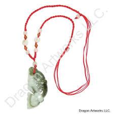 j1337 carved fish jade necklace jpg