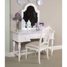 elegant makeup table. Bedroom Makeup Vanity Table And Chair Set With Mirror Made Of Ebony Wood In White Finsihed Elegant E